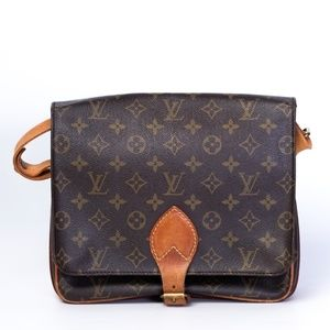 LOUIS VUITTON CARTOUCHERIE MM MONOGRAM CROSBODY BA